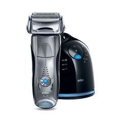 The Braun Series 7 790cc-4 Electric Foil Shaver is one of Braun's finest electric shavers to date.  The Series 7 790cc-4 is sleek, comfortable to hold, and versatile capable of handling beards, stubble, and mustaches with a dry or wet shave.  Braun is an industry leader in home grooming products ... Read more .. http://hmppr.com/d/review-braun-series-7-790cc-4-electric-foil-shaver-with-charge-station/