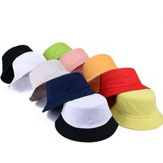 ad7e426b327 Korean jelly-colored Solid Color Bucket Hats for Men Panama Women Hat  fisherman hat Street