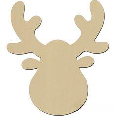 To design a moose or deer antlers yourself - Basteln - Haus Design Paper Christmas Decorations, Felt Christmas Ornaments, Christmas Svg, Tree Decorations, Reindeer Face, Christmas Hacks, Christmas Drawing, Deer Antlers, Diy Weihnachten