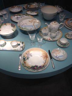 Décoration de table / Bernardaud #deoc #table #bleu #maison #decoration #vaisselle #assiette #mo14