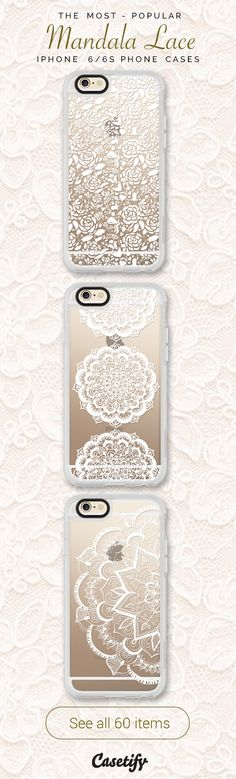 All time favourite Mandala Lace iPhone 6 protective phone case designs. Ready to put on your favourite lace gear?  | Click through to see more iphone phone case ideas >>> https://www.casetify.com/collections/lace/ | @casetify