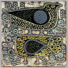 Lisa Larson is one of the most renowned representatives of the illustrious Swedish ceramic design of the century. Persian Calligraphy, Calligraphy Art, Tile Panels, Ceramic Design, Wall Plaques, Beautiful Birds, Pottery Art, Scandinavian, City Photo