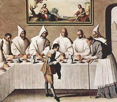 Francisco de Zurbarán. St Hugo in the Carthusian Refectory. circa 1630-35