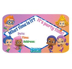 Bubble Guppies Blank Invitations