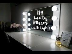 My favorite tutorial so far!  DIY VANITY MIRROR WITH LIGHTS [UNDER $100!!!] || SimplySandra