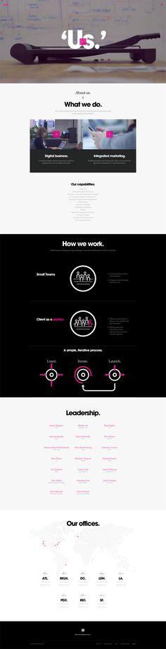 Unique Web Design, Huge via @catepeli #Web #Design