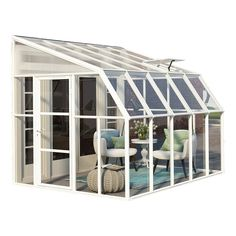 Bring the outdoors indoors with the Sun Room 2 from Palram. Turn your existing porch, deck, or patio into a sunroom enclosure or a greenhouse space. Unique construction provides UV protection, yet allows for air circulation. Sunroom Kits, Small Sunroom, Sunroom Ideas, Small Patio, Acrylic Wall Panels, Magazine Deco, Lean To, Roof Panels, Side Door