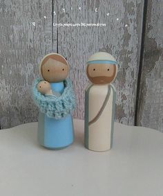 Nativity peg dolls- Love the sling!