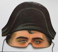 NAPOLEAN vintage doll paper mask