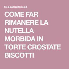 COME FAR RIMANERE LA NUTELLA MORBIDA IN TORTE CROSTATE BISCOTTI Burritos, Nutella, Cake & Co, Creative Cakes, Light Recipes, Cake Recipes, Food, Glasse, Easy