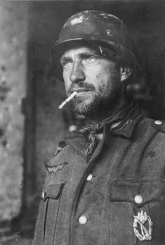 A German soldier at the Battle of Stalingrad..