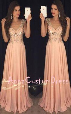 Light Peach Prom Dresses 2018