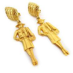mademoiselle earrings by chanel $695