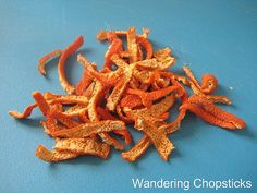 Wandering Chopsticks: Vietnamese Food, Recipes, and More: How to Dry Orange Peels
