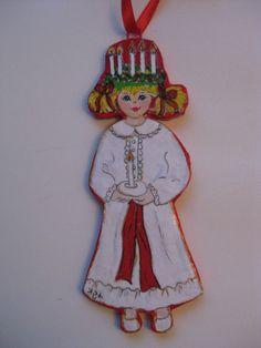 Swedish Santa Lucia and Starboy Ornaments. $9.50, via Etsy.