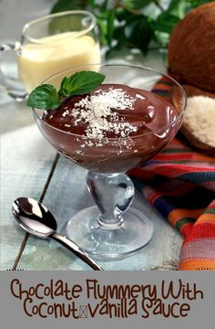 Vanilla Sauce, Coconut Sauce, Flummery, Chocolate Pudding, Easy Snacks, I Foods, Homemade, Meals, Dishes