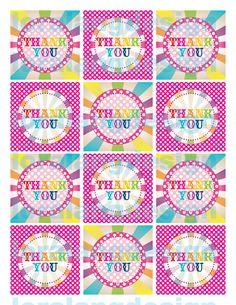 DIY Printable Rainbow Birthday Party Favor Tags. $5.00, via Etsy.