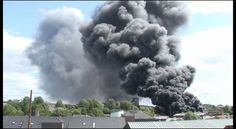 Thick black clouds of smoke from the Byker Scrap yard fire Newcastle May 2011 (15 minutes long).