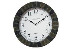 Indoor/Outdoor Slate Wall Clock