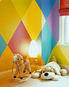 harlequin diamond pattern for kid's room