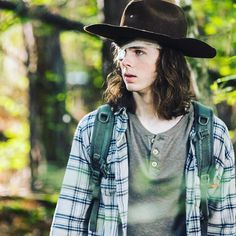 "The Walking Dead (@thewalkingdead) on Instagram: ""Was tonight's episode of #thewalkingdead the best of the season so far? Hit the link in our bio to…"" - Chandler Riggs as Carl Grimes in The Walking Dead S8 Ep06 ""The King,The Widow and Rick"""