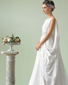 Wedding dresses greek goddess style bridesmaid