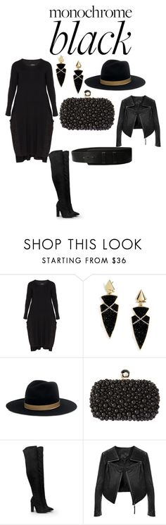 """Black finest"" by macgurl ❤ liked on Polyvore featuring BaubleBar, Janessa Leone, Natasha, Nasty Gal and Amsterdam Heritage"