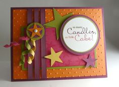 Stampin' Up! - Bring on the Cake. ♥ Color Combo is delightful!  Rich Razzleberry, Melon Mambo, Old Olive, Pumpkin Pie & Daffodil Delight