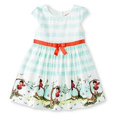 Toddler Girls' Ladybug Girl Sun Dress - White/Blue