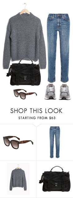 """""""Untitled #1856"""" by mmooa ❤ liked on Polyvore featuring M.i.h Jeans, Proenza Schouler and New Balance"""