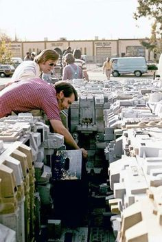 Death Star trench filming model 1976.