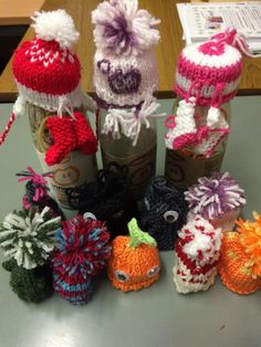 """@ageuksolihull """"One of our knitters, Carol, knitted your @innocentdrinks logo onto one of their little hats. #BigKnit"""""""