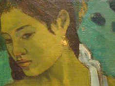 Two Tahitian Women, 1899, detail, Paul Gauguin