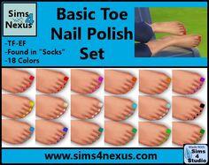 Basic Toenail Polish Set at Sims 4 Nexus via Sims 4 Updates