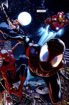Spider-Men and the Ultimates SPIDER-MEN #3 (July, 2012) Art by Sara Pichelli & Justin Ponsor