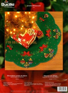 bucilla jeweled ornaments 415 felt christmas tree skirt kit 84964 sparkles diy