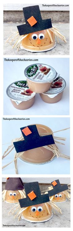 Scarecrow Applesauce Treat Cups