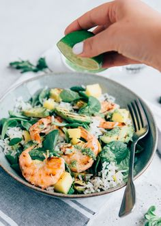 Salad with grilled avocado and shrimp + update - Grillen Styla Grilled Pesto Chicken, Grilled Avocado, Fish Recipes, Salad Recipes, Healthy Recipes, Good Food, Yummy Food, Dinner Salads, Food Categories