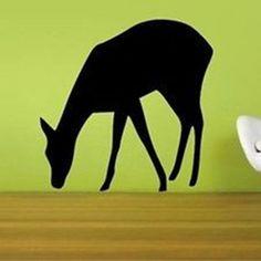 Drinking Deer Vinyl Wall Decal Sticker
