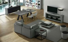 Zuri Furniture Zion Coffee Table Matte Black >>> Find out more at the image link. (This is an affiliate link). Matte Black, Corner Desk, Living Room, Modern, Coffee Tables, Design, Furniture, Image Link, Home Decor