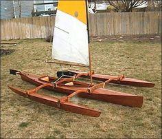 Bildergebnis für holzboot ausleger spielzeug