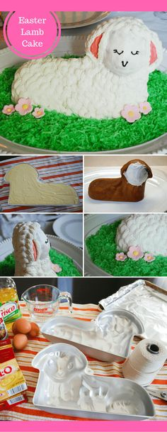 How to make and decorate a traditional 3D standup Easter lamb cake