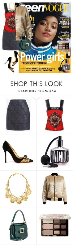 """Girl Power"" by denibrad ❤ liked on Polyvore featuring J.Crew, JIRI KALFAR, Christian Louboutin, Victoria's Secret, Jose & Maria Barrera, Sans Souci, Roger Vivier, Too Faced Cosmetics and Estée Lauder"