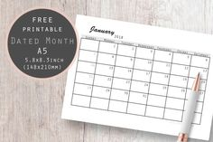 Dated Month January 2018 #january #januaryplanner #monthplanner #january2018