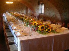 wedding in tuscany table decor