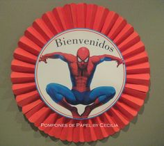 Hombre Araña Disney, Party Themes, Fictional Characters, Spiderman, Ideas Para Fiestas, Superhero, Paper Rosettes, Paper Pom Poms, Party Printables