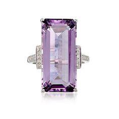 amethyst and diamond - Art Deco
