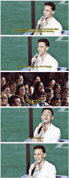 Tom Hiddleston on acting resume
