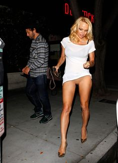Pam Anderson on a casual stroll?