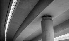 Bridge, Pillar, Concrete, Underneath, Crossing